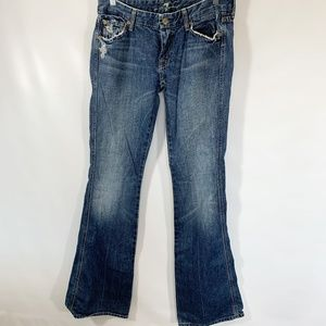 7 For All Mankind Jeans A Pocket Distressed Cotton